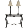 Style Selections 31.5-in Bronze Furniture Lamp with Fabric Shade