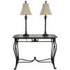 Style Selections 30-in Bronze Sofa Table Set with Two Buffet Lamps
