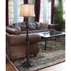 allen + roth Woodbine 61-in 3-Way Switch Bronze Indoor Floor Lamp with Fabric Shade