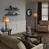 J. Hunt Home Woodbine 61-in 3-Way Switch Bronze Indoor Floor Lamp with Fabric Shade