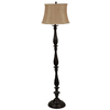 J. Hunt Home Woodbine 61-in 3-Way Switch Bronze Indoor Floor Lamp with Fabric Shade