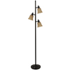 Portfolio 72-in 3-Light Bronze Floor Lamp with Champagne Shade
