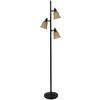 Portfolio 72-in Bronze Indoor Floor Lamp with Glass Shade