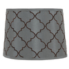 Portfolio 10-in x 14-in Blue Drum Lamp Shade