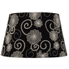 Portfolio 10-in x 16-in Black Drum Lamp Shade