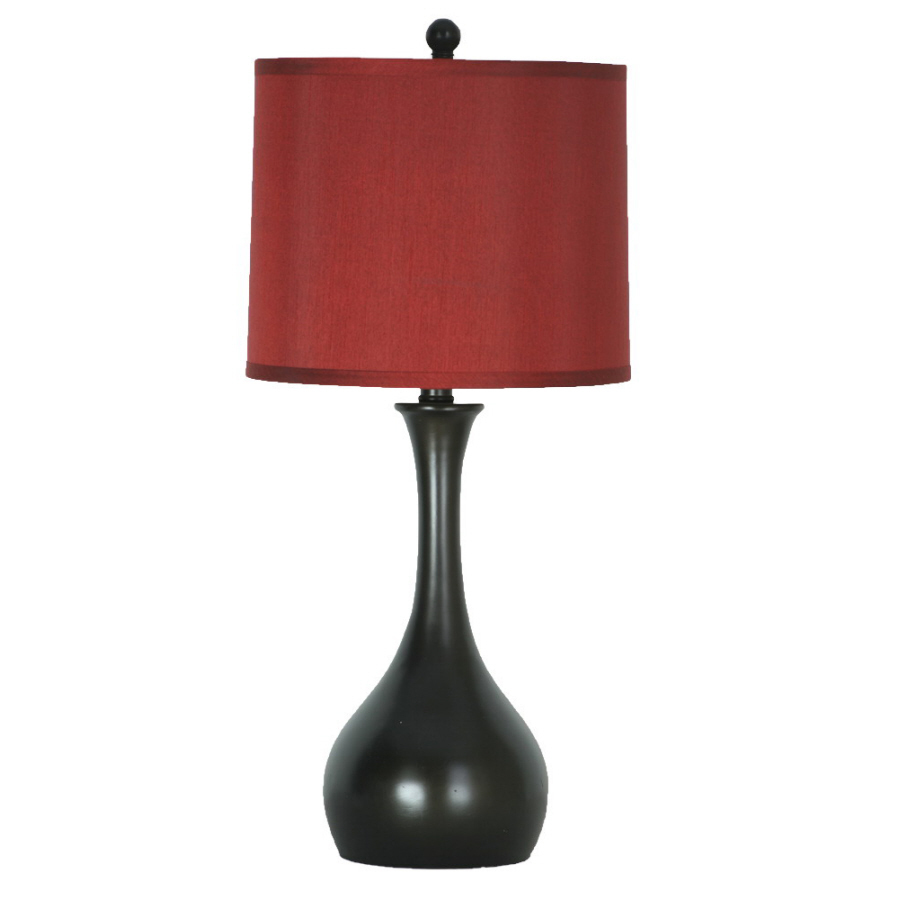 shop allen roth 24 in indoor table lamp with shade at. Black Bedroom Furniture Sets. Home Design Ideas