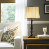 J. Hunt Home Woodbine 28-in Dark Oil-Rubbed Bronze Indoor Table Lamp with Fabric Shade