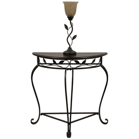 Style Selections 49.75-in Bronze Furniture Lamp with Glass Shade