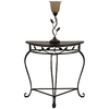 Style Selections 52-1/4-in Bronze Leaf Table and Lamp with Taupe Shade