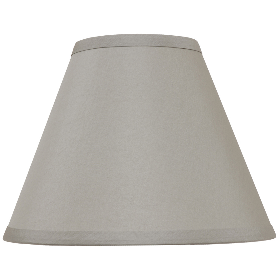 Lamp Shades on Shop Portfolio Uno Silver Hardback Lamp Shade At Lowes Com