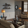 allen + roth Woodbine 61-in Bronze Indoor Floor Lamp with Fabric Shade