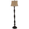 allen + roth 61-1/2-in Bronze Floor Lamp with Silken Toast Shade