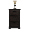 Style Selections 44-in Black Furniture Lamp with Glass Shade