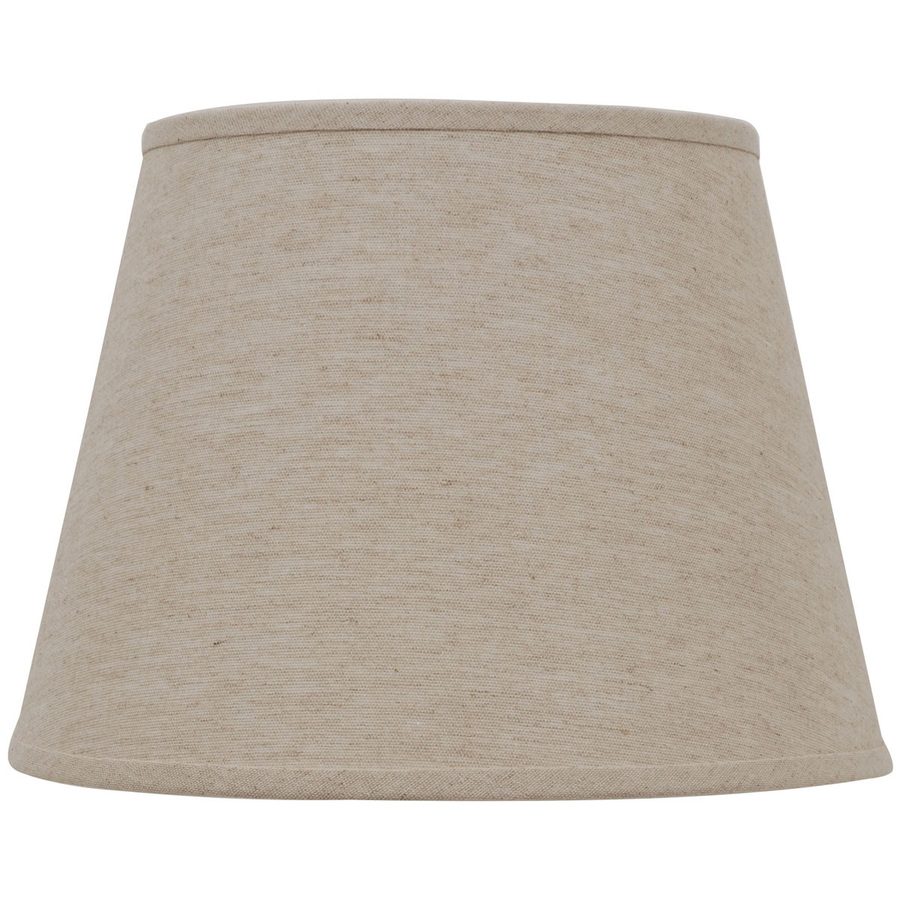 roth 11 in x 15 in natural linen fabric drum lamp shade at. Black Bedroom Furniture Sets. Home Design Ideas