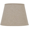 Portfolio 11-in x 15-in Natural Linen Drum Lamp Shade