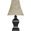 allen + roth 15.5-in Bronze Indoor Table Lamp with Fabric Shade
