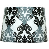 "Portfolio 11 X 13 X 9"" BLACK AND WHITE DRUM LAMP SHADE"