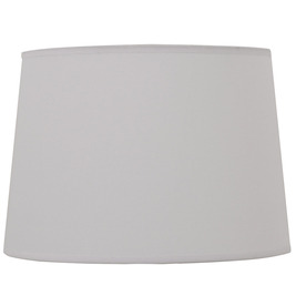 Style Selections 9-in x 13-in Off White Fabric Drum Lamp Shade