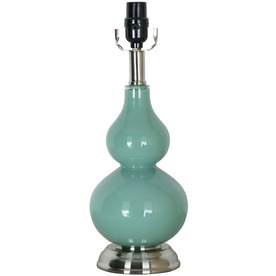 Style Selections 16-1/4-in Blue Glass Lamp Base