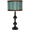 Jimco 26-1/2-in Bronze Table Lamp with Blue Shade
