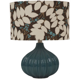 Jimco 16-1/2-in Blue Table Lamp with Multicolor Shade
