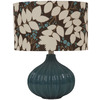 Jimco 16-1/2-in Blue Indoor Table Lamp with Fabric Shade