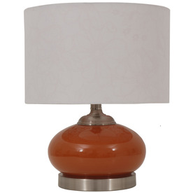Jimco 15-1/2-in Orange Table Lamp with Cream Shade