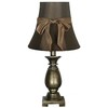 Jimco 18-in Aged Brass Table Lamp with Brown Shade