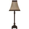 Jimco 22.5-in Bronze Indoor Table Lamp with Fabric Shade