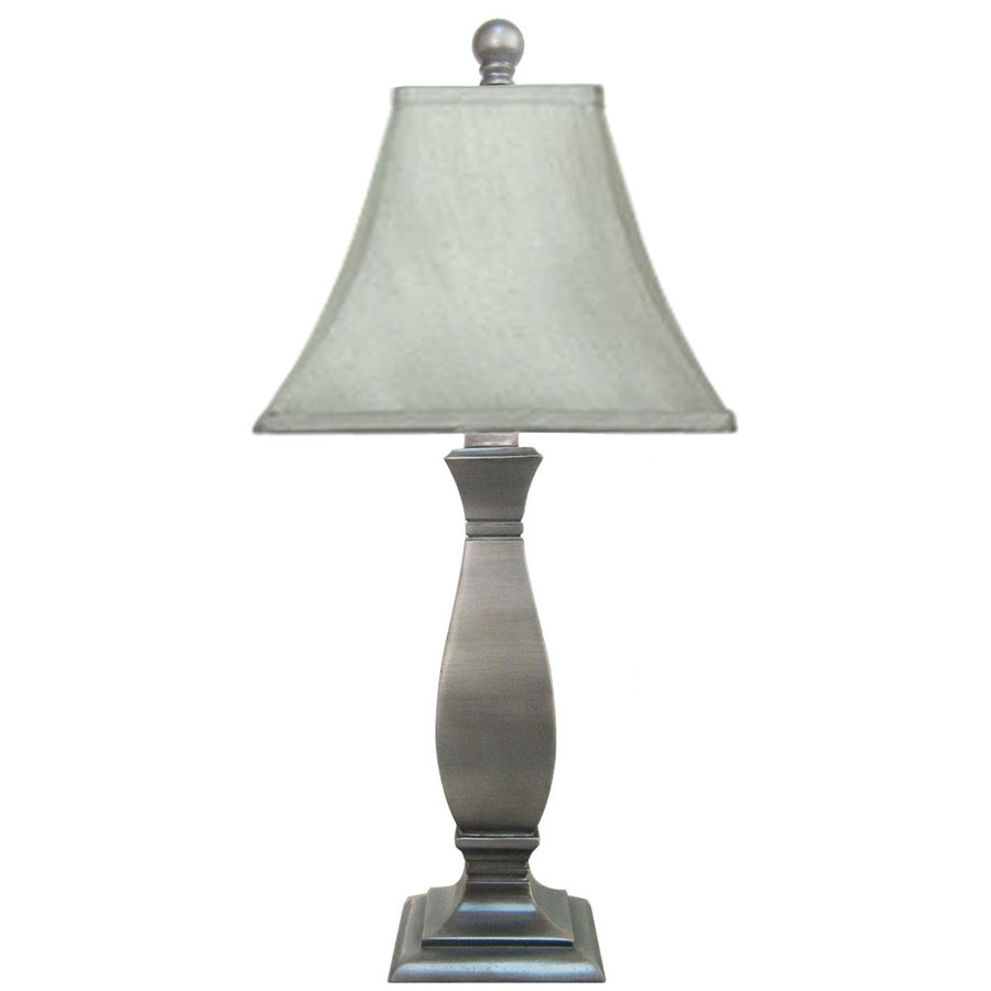 shop jimco 18 in silver indoor table lamp with fabric. Black Bedroom Furniture Sets. Home Design Ideas