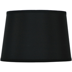 Style Selections 9-in x 13-in Black Drum Lamp Shade