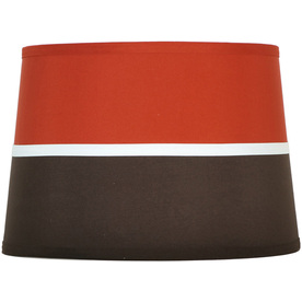 Style Selections 9-in x 13-in Orange and Brown Drum Lamp Shade