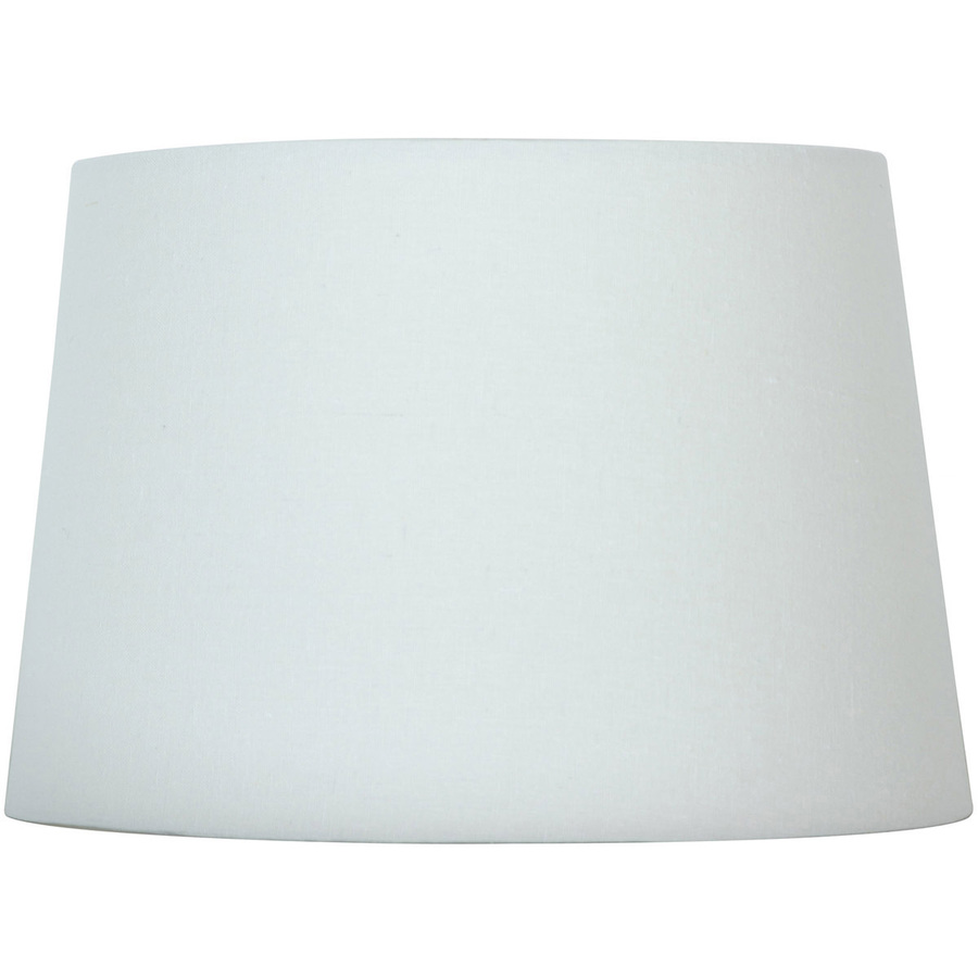 zoom out zoom in style selections 9 in x 13 in white drum lamp shade. Black Bedroom Furniture Sets. Home Design Ideas