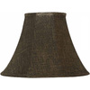 Portfolio 12-1/2-in x 17-in Brown and Gold Metallic Bell Lamp Shade