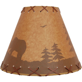 Portfolio 11-in x 14-in Brown Bell Lamp Shade