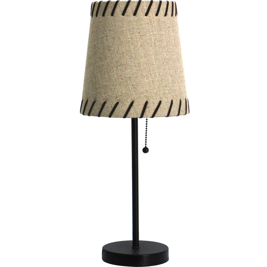 shop 19 in bronze indoor table lamp with fabric shade at. Black Bedroom Furniture Sets. Home Design Ideas