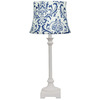 Jimco 22-in White Table Lamp with Blue Shade