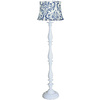 allen + roth 62-in White Floor Lamp with Blue Shade