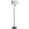 allen + roth 58-in Bronze Floor Lamp with Cream Shade