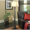 allen + roth 59-in Bronze  Indoor Floor Lamp with Fabric Shade