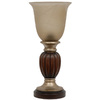 allen + roth 13.25-in 2 Tone Indoor Table Lamp with Glass Shade