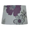 Style Selections 9-in x 13-in White and Purple Drum Lamp Shade