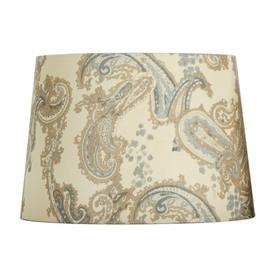 Portfolio 10-in x 14-in Cream and Blue Drum Lamp Shade