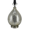 Style Selections 16-in Antique Mercury Tear-Drop Glass Lamp Base