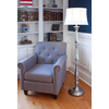 allen + roth Woodbine 60.5-in 3-Way Switch Brushed Nickel Indoor Floor Lamp with Fabric Shade