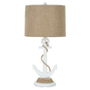 25-in Ivory Indoor Table Lamp with Fabric Shade