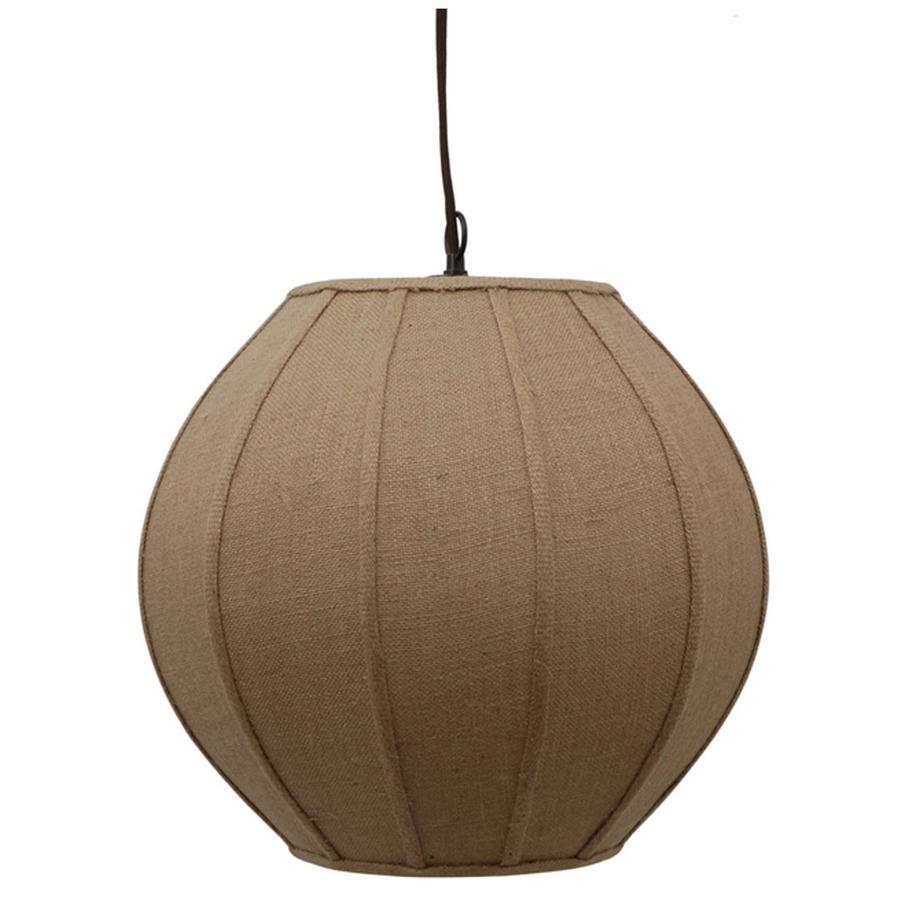 Shop portfolio burlap 17 in w tan pendant light with for Burlap lights
