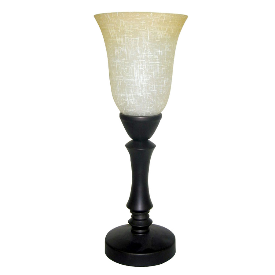 Shop allen + roth 16-in Bronze Touch On/Off Indoor Table Lamp with ...