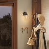 allen + roth Bristow 8.25-in W 1-Light Oil Rubbed Bronze Arm Hardwired Wall Sconce