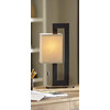 allen + roth 20.5-in Bronze Indoor Table Lamp with Fabric Shade